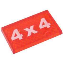 Lente Indicadora de Painel Tração 4X4 referência LS114 - Dimensões: 25x16mm