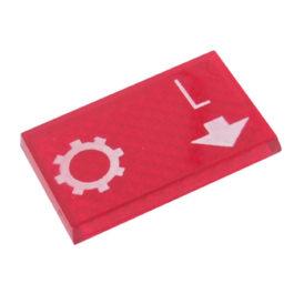 Lente Indicadora de Painel Engrenagem Lenta referência LS114 - Dimensões: 25x16mm