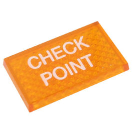 Lente Indicadora de Painel Check Point referência LS114 - Dimensões: 25x16mm