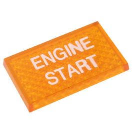 Lente Indicadora de Painel Engine Start referência LS114 - Dimensões: 25x16mm