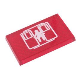 Lente Indicadora de Painel Portas de Emergência referência LS114 - Dimensões: 25x16mm