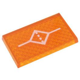 Lente Indicadora de Painel Filtro Ar referência LS114 - Dimensões: 25x16mm