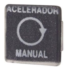 Lente Indicadora de Painel Acelerador Manual (TECLA) referência LS199 - Dimensões: 10x10mm