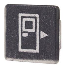 Lente Indicadora de Painel Acionador Porta Direita (TECLA) referência LS199 - Dimensões: 10x10mm