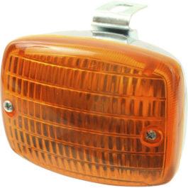Lanterna Auxiliar Paquera (Adaptação) Cromado  Âmbar