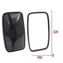 Espelho Retrovisor Externo Caminhão/Ônibus Ford/MB/GM Médio, Universal, Texturizado, Vidro Convexo