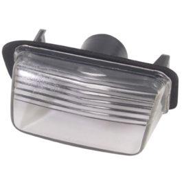 Lanterna de Placa Peugeot/Citroen Policarbonato  Cristal