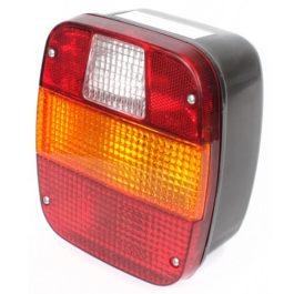 Lanterna Traseira Ford / VW (Marmitão) c/ Vigia, Acrílico  Tricolor