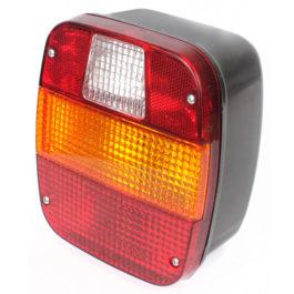 Lanterna Traseira Ford / VW (Marmitão) s/ Vigia, Acrílico  Tricolor