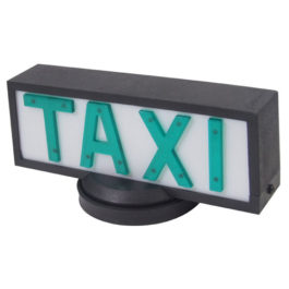 Luminoso de Taxi Universal Pequeno com 1 Imã  Preto