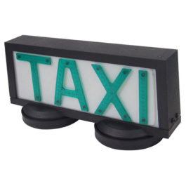 Luminoso de Taxi Universal Grande com 2 Imãs  Preto