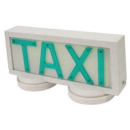 Luminoso de Taxi Universal Grande com 2 Imãs  Branco