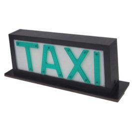 Luminoso de Taxi Universal Pequeno com 2 Imãs (Plano)  Preto