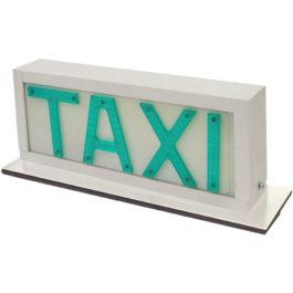 Luminoso de Taxi Universal Grande com 1 Imã (Plano)  Branco