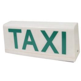 Luminoso de Taxi Universal Grande Moderno com 1 Imã Plano  Branco