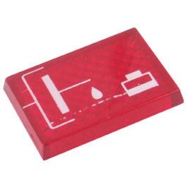 Lente Indicadora de Painel Acoplamento Fluído de Freio referência LS133 - Dimensões: 22x16mm